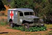 An old truck is a relic from the M*A*S*H TV series.