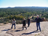 The top of Enchanted Rock State Natural Area provides a grand view of the Texas Hill Country.
