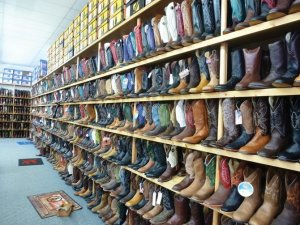 Miles City Saddlery offers lots of boots.