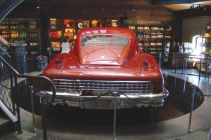 A Tucker automobile is on display at the Francis Ford Coppola Winery.