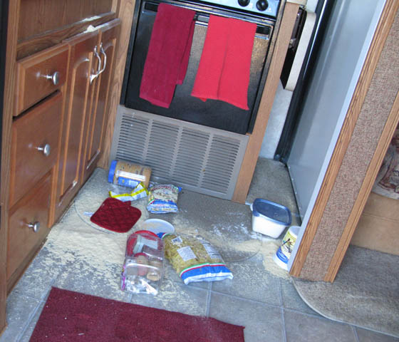 RV kitchen storage tips
