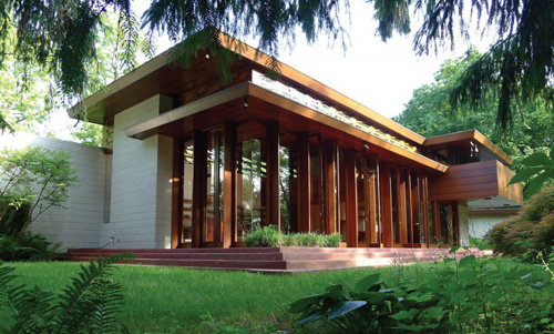 Wright-designed Bachman Wilson House in Millstone, NJ