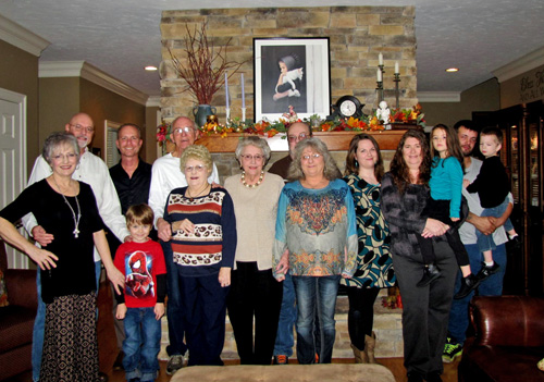 Famiy Gathered for Thanksgiving