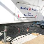 Reduce RV Wobble with Winfield Fifth Wheel Leg Stabilizers