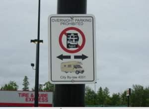 overnight parking rest areas