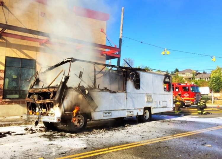 RV kitchen fire