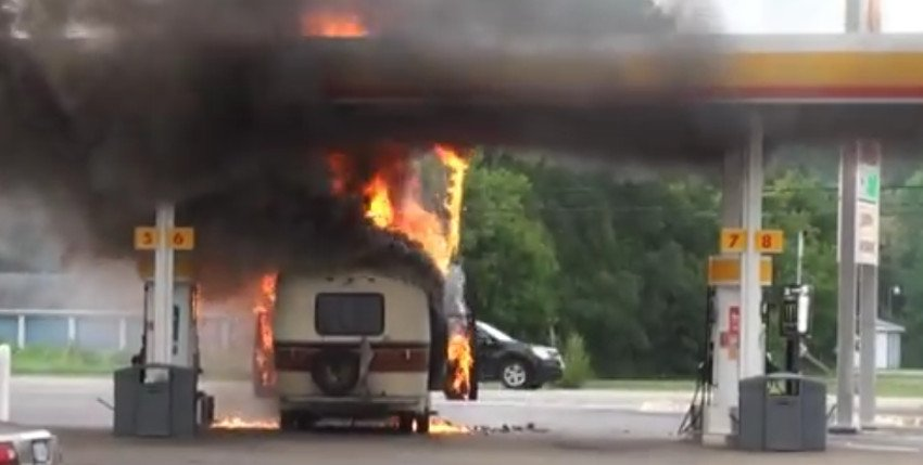 RV propane system explode