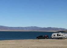 Beach Camping Along The Beautiful Pyramid Lake