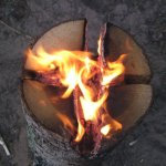 How To Make A Swedish Torch Using Only One Log