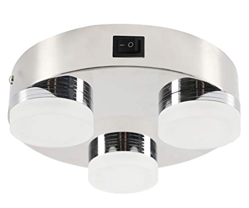 Lumitronics RV 12V Double LED Ceiling Dome Light 2-Pack Removable Lenses On//Off Switch