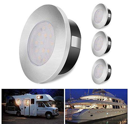 Bonlux 12V RV Reading Light RV Boat LED Bedside Lamp Warm White 3W 12V Wall Light RV Reading Lights Interior Fixture for Camper Trailer Motorhome Interior Lighting Spotlight 1-Pack