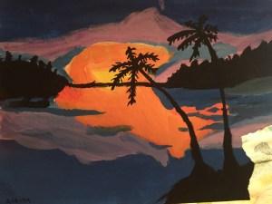Alaina's art from art camp