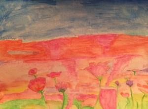 Alaina's watercolor piece
