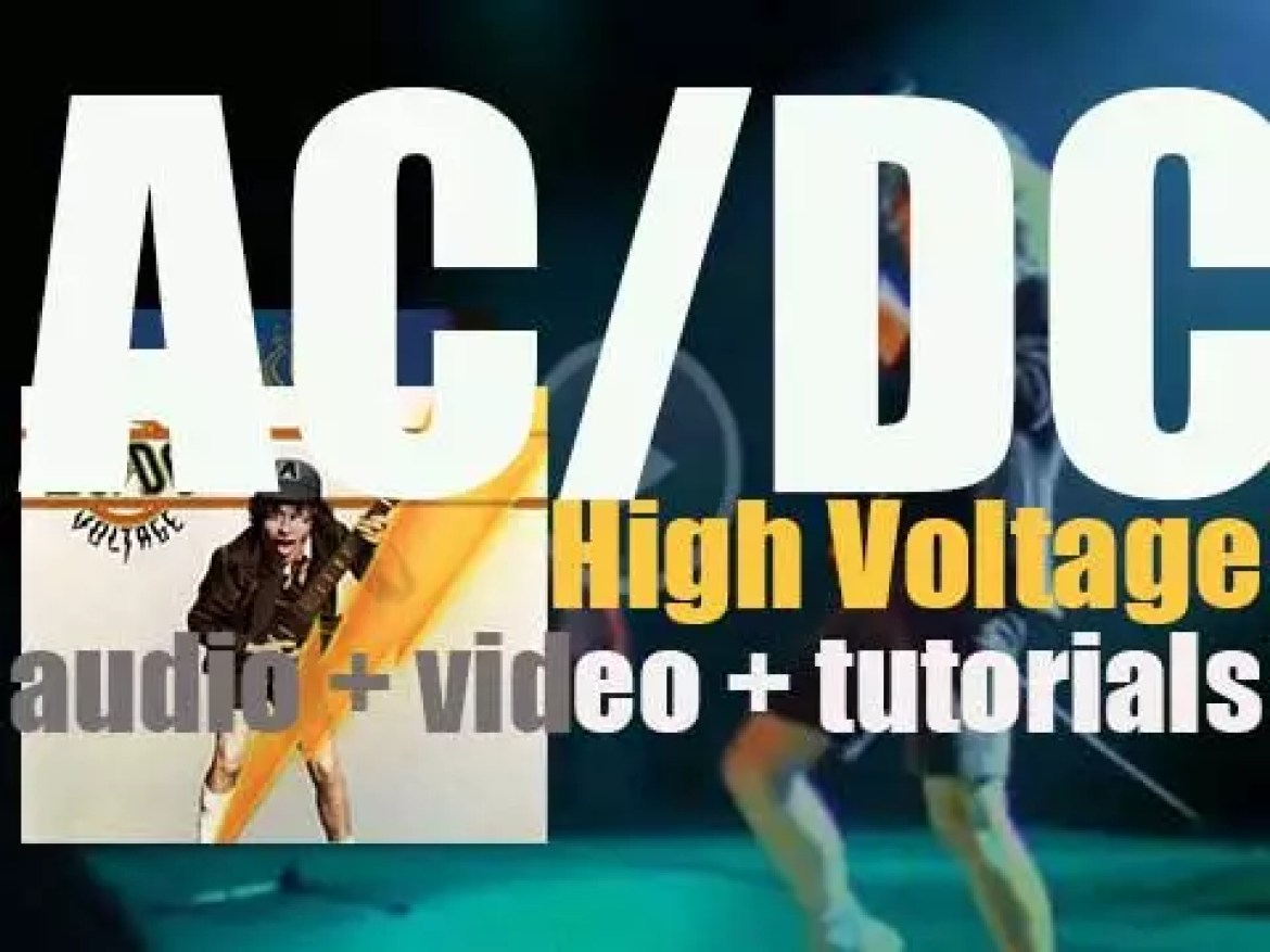 AC/DC release 'High Voltage,' their first album outside of Australia (1976)