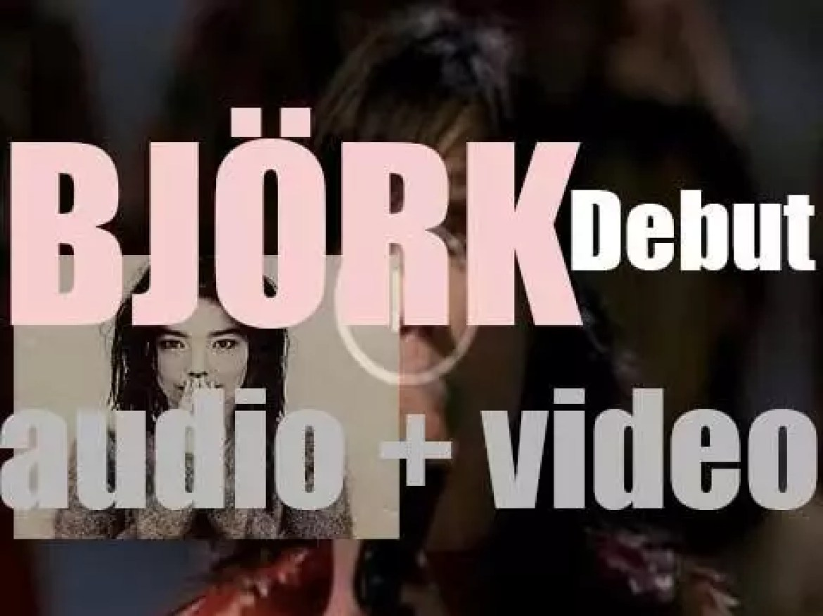 One Little Indian release Björk's second album : 'Debut' featuring 'Human Behaviour' and 'Violently Happy' (1993)