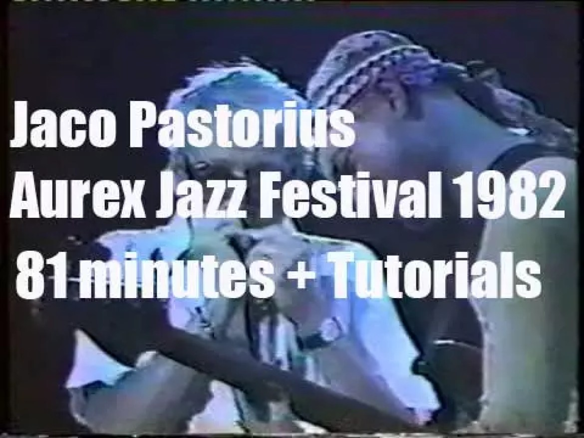 Jaco Pastorius takes  the Word of Mouth Big Band to 'Aurex Jazz Festival 1982'