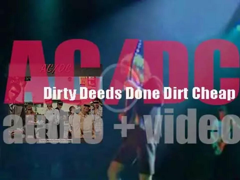 AC/DC release their last album with Bon Scott : 'Dirty Deeds Done Dirt Cheap' (1976)