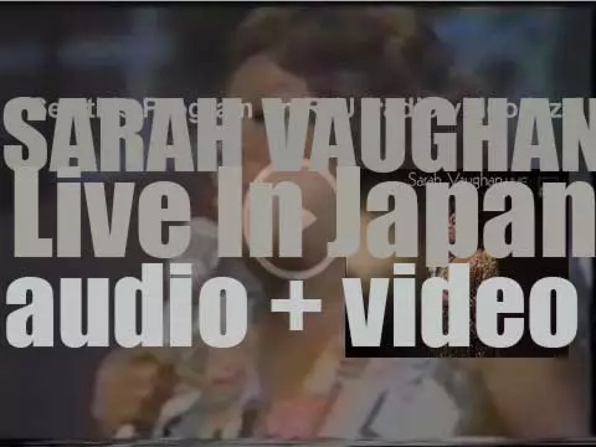 Sarah Vaughan records the album 'Live in Japan' at Nakano Sun Plaza Hall in Tokyo (1973)