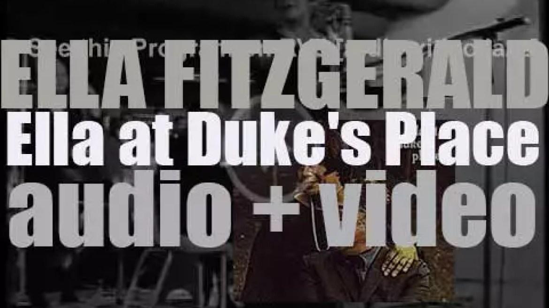 Ella Fitzgerald records 'Ella at Duke's Place' with the Duke Ellington Orchestra (1965)