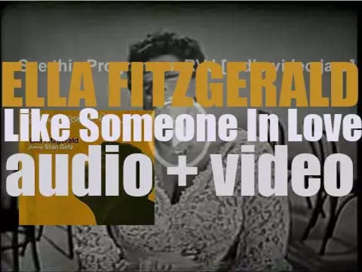 Ella Fitzgerald records 'Like Someone in Love' with a studio orchestra conducted by Frank DeVol (1957)