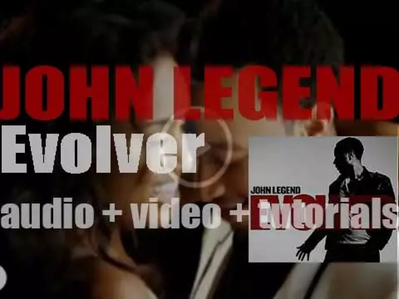 John Legend releases 'Evolver,' his third album featuring Kanye West, Brandy, Estelle, Andre 3000 et al (2008)