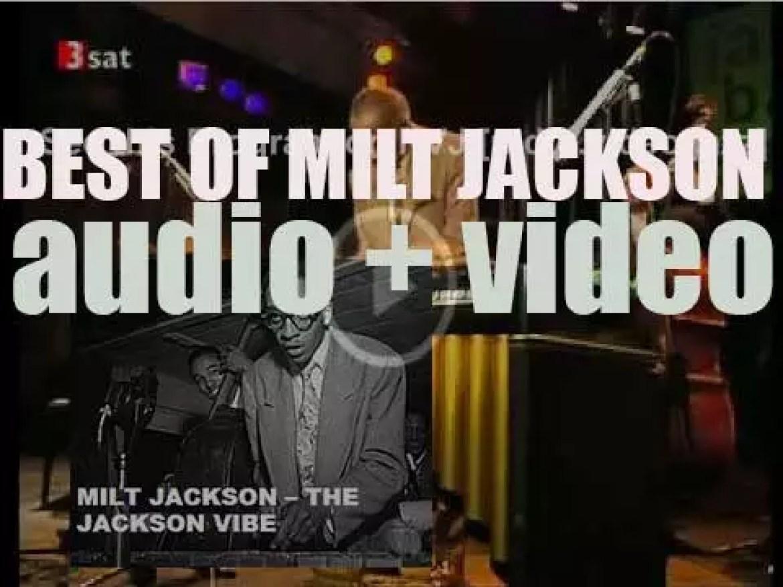 We remember Milt Jackson. 'The Jackson Vibe'