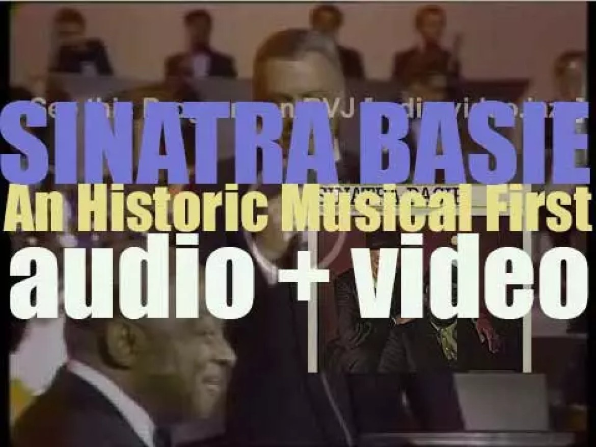 Frank Sinatra records 'Sinatra–Basie: An Historic Musical First' with  Count Basie and his Orchestra (1962)