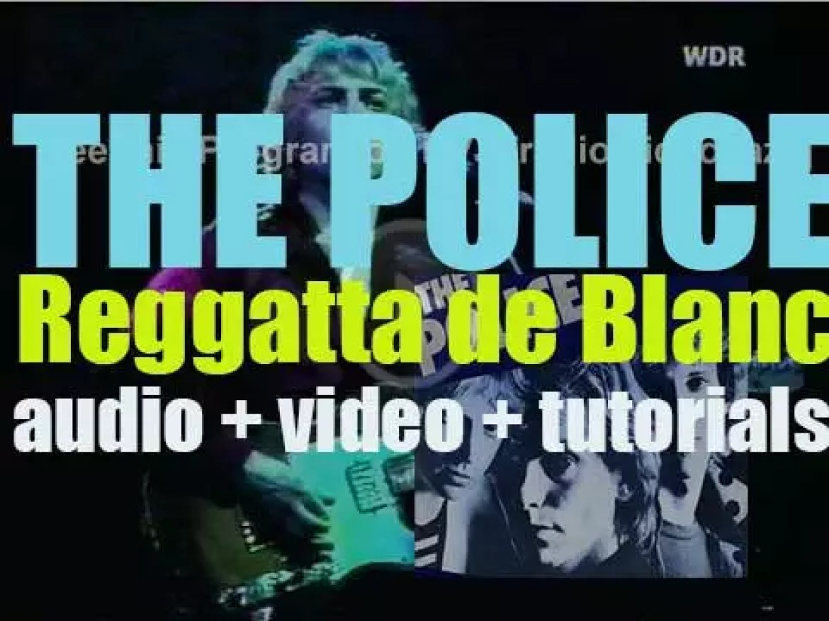 The Police release 'Reggatta de Blanc,' their second album featuring 'Message in a Bottle' and 'Walking on the Moon' (1979)