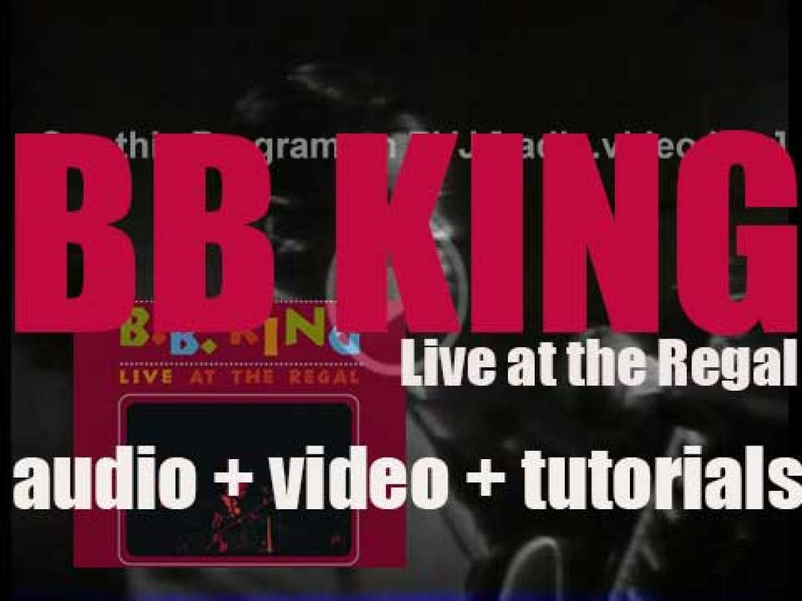 B.B. King records 'Live at the Regal' at the Regal Theater in Chicago (1964)