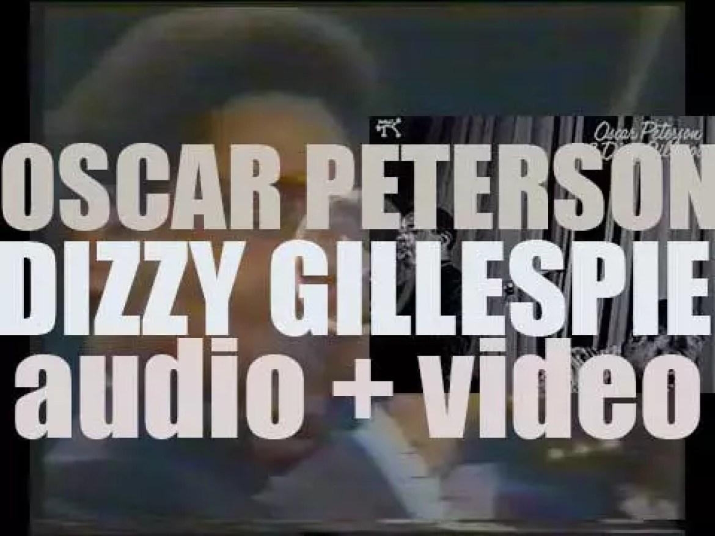 Pablo Records tape 'Oscar Peterson and Dizzy Gillespie,' their eponymous album (1974)