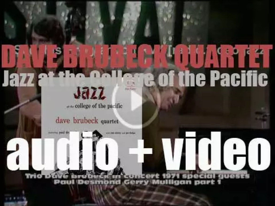 Dave Brubeck Quartet records 'Jazz at the College of the Pacific' for Fantasy Records (1953)