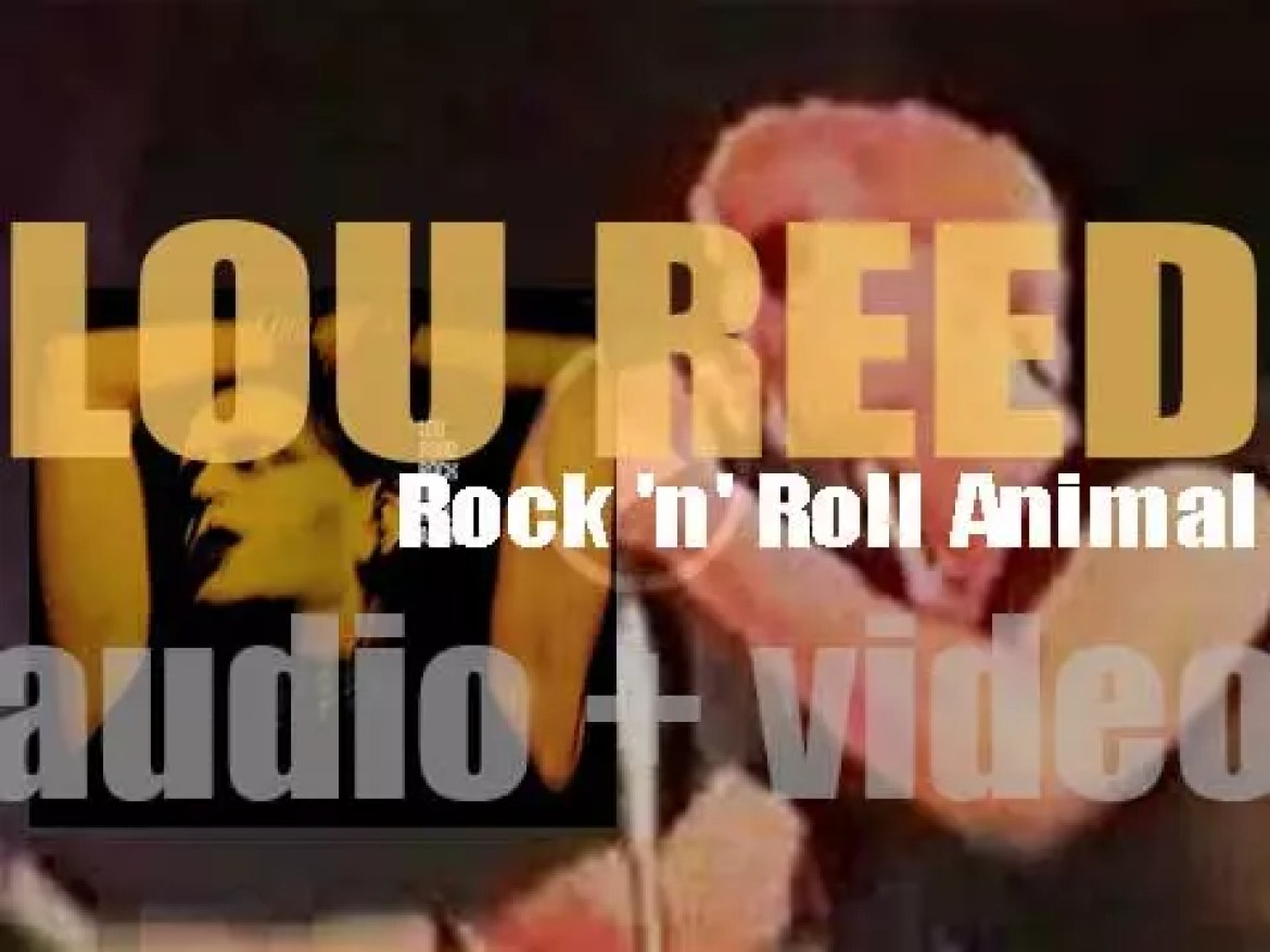 Lou Reed records the live album 'Rock n Roll Animal' at the Academy of Music in New York (1973)
