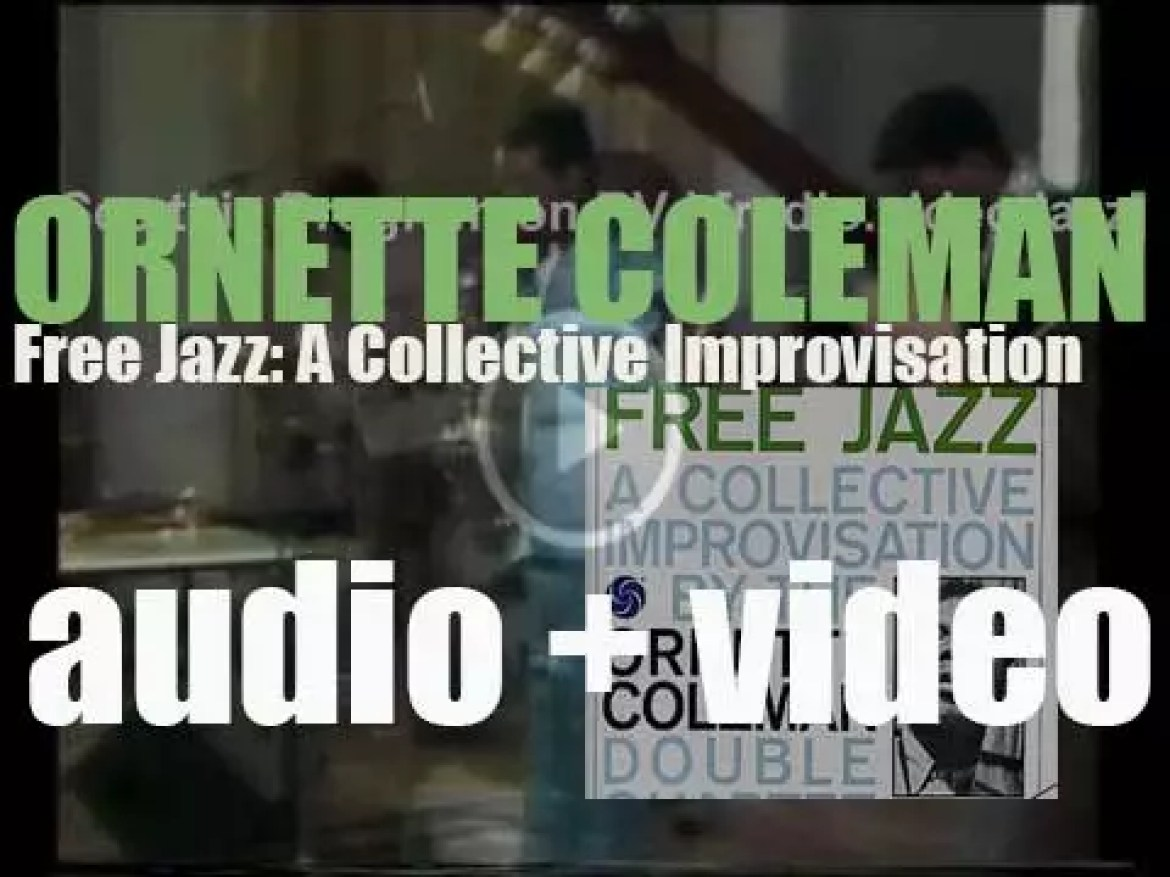 Ornette Coleman records his sixth album : 'Free Jazz: A Collective Improvisation' for Atlantic Records (1960)