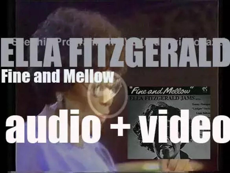 Ella Fitzgerald records 'Fine and Mellow,' an album for Pablo (1974)