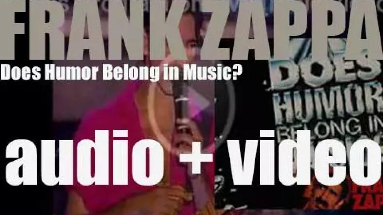EMI publish Frank Zappa's album : 'Does Humor Belong in Music?' (1986)