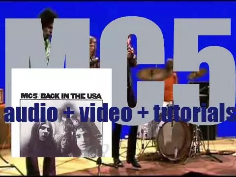 Atlantic publish MC5's debut studio album : 'Back in the USA' (1970)