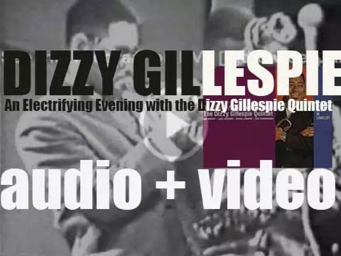 Dizzy Gillespie records 'An Electrifying Evening with the Dizzy Gillespie Quintet' live at MOMA in New York City (1961)