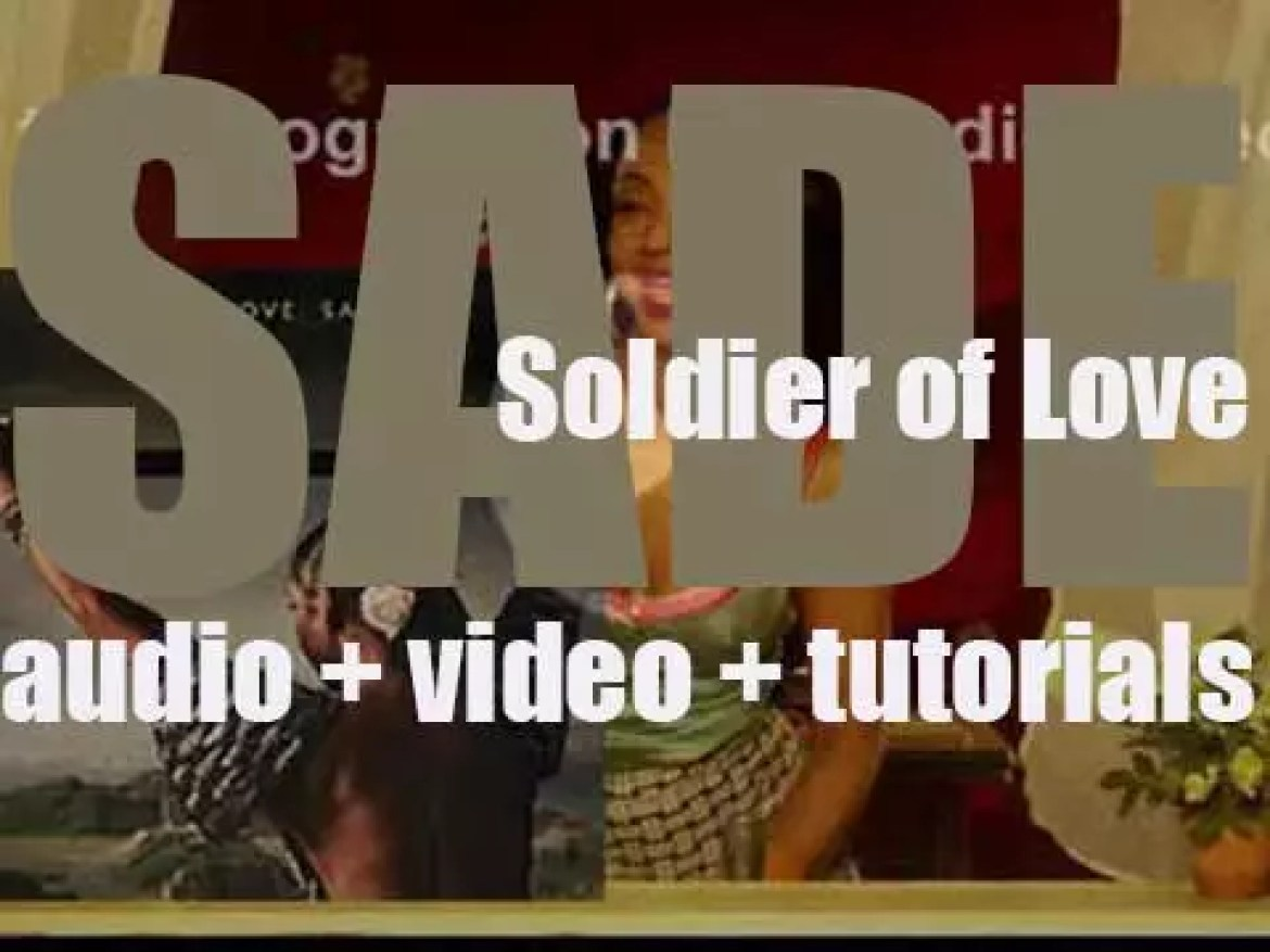 Sade release their sixth album : 'Soldier of Love' (2010)