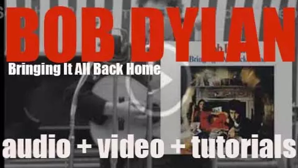 Bob Dylan releases 'Bringing It All Back Home,' his fifth album featuring 'Subterranean Homesick Blues,' 'Maggie's Farm' …. (1965)
