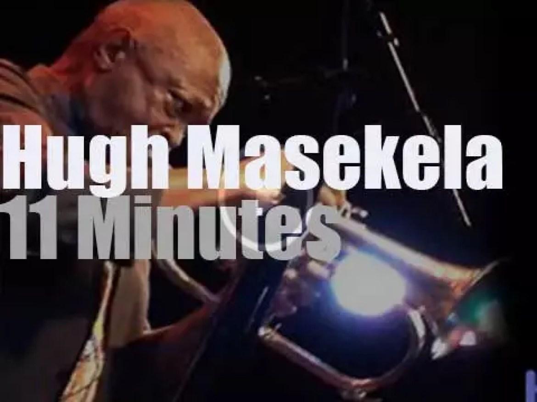 Hugh Masekela celebrates his 75th birthday in Santa Cruz, California (2014)