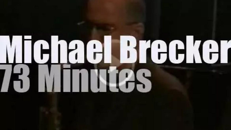 The Michael Brecker Quartet tours Italy (1999)