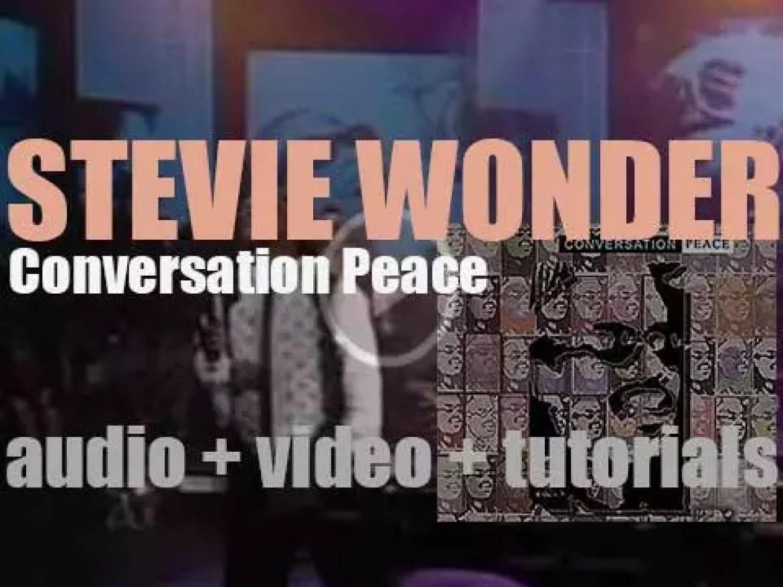Stevie Wonder releases  'Conversation Peace,' his twenty second album (1995)