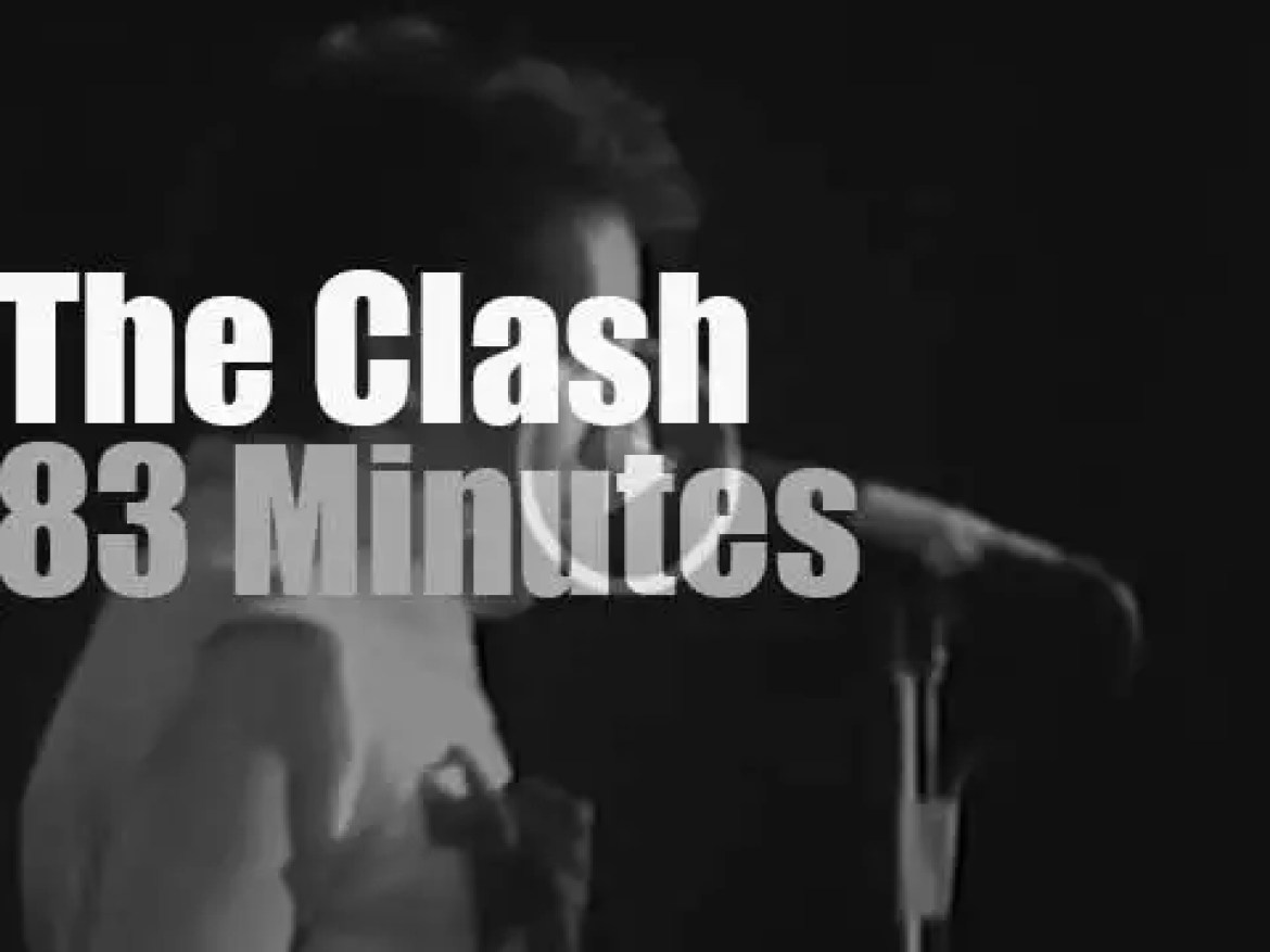 """The Clash """"16 Tons"""" tour stops in New-Jersey (1980)"""