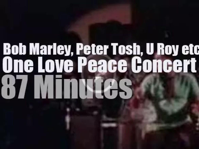 Bob Marley, Peter Tosh, U Roy et al join forces against civil war in Jamaica (1978)