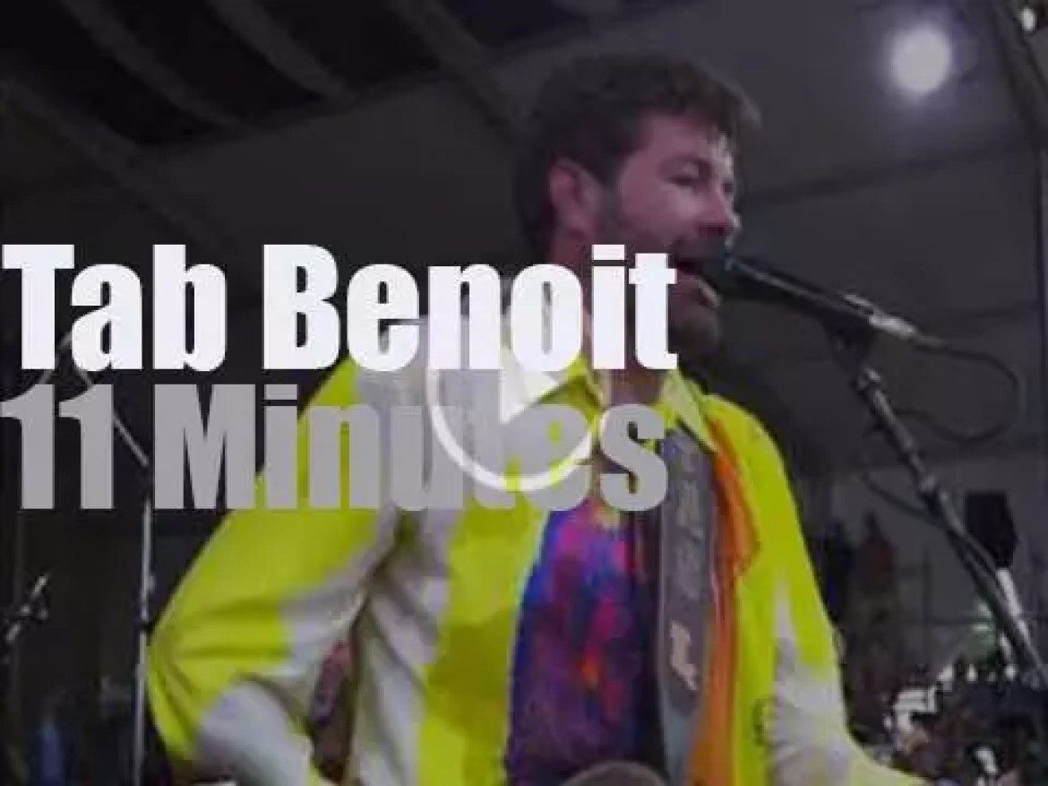 Tab Benoit plays at New Orleans JazzFest (2014)
