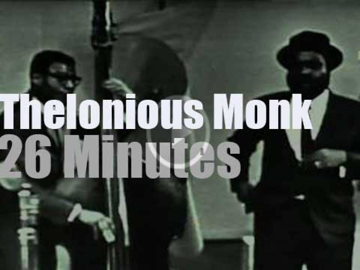 Thelonious Monk tapes a short film for Polish television (1966)
