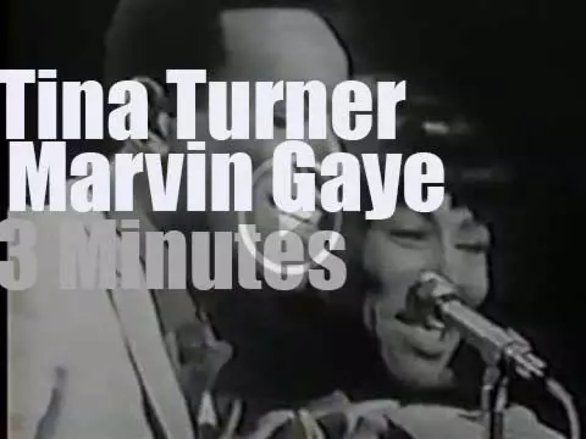 Tina Turner duets with Marvin Gaye  (1965)