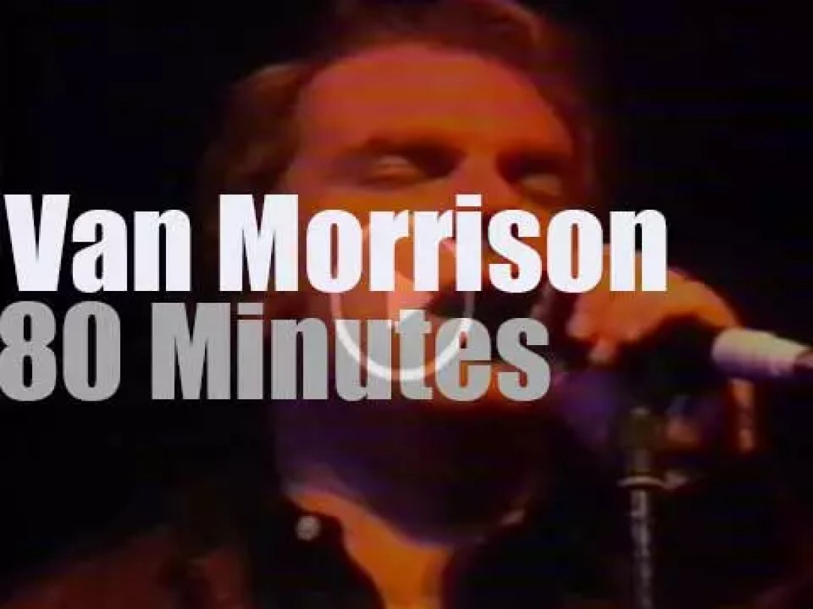 """Van Morrison tapes a show for """"Rockpalast"""" (1982)"""