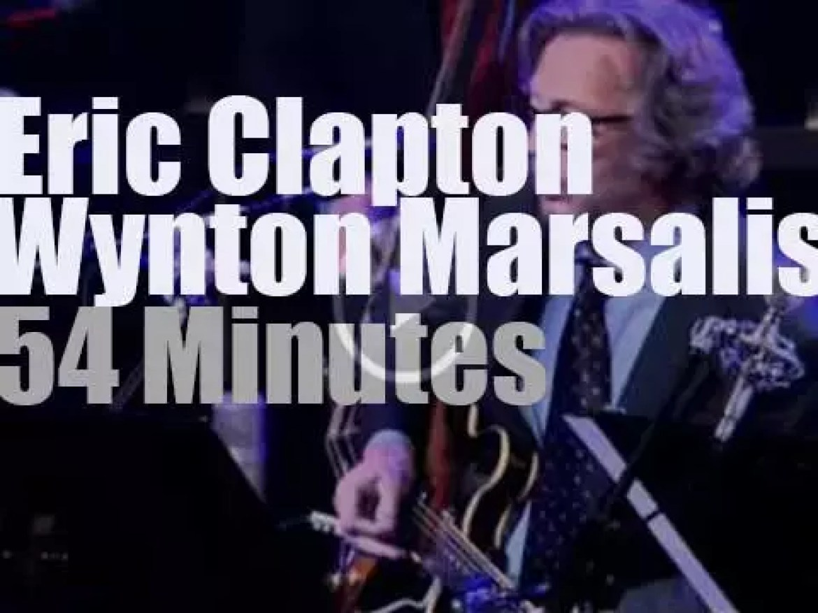 Eric Clapton sits in with Wynton Marsalis et al (2011)