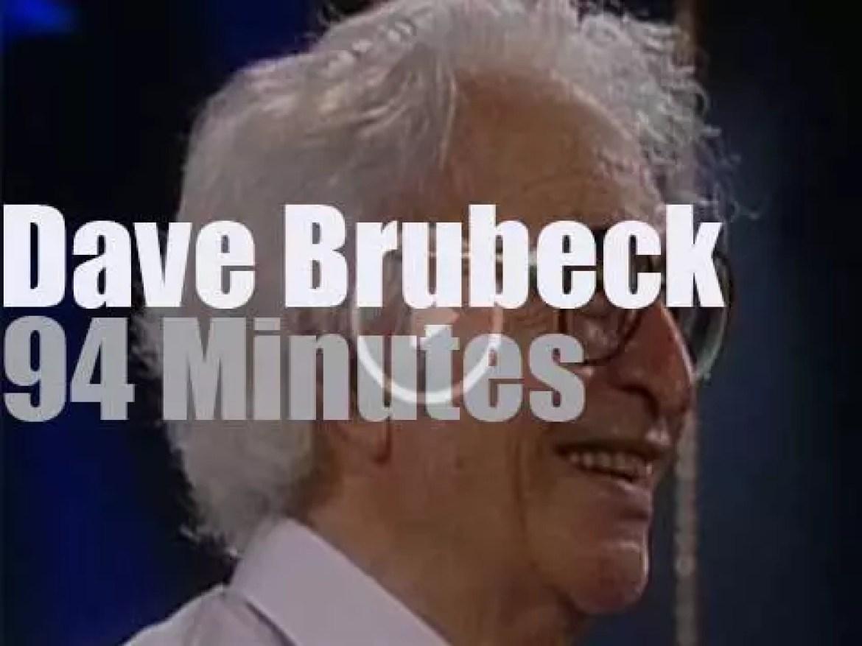 Dave Brubeck Quartet  plays in Jazzwoche Burghausen (2001)